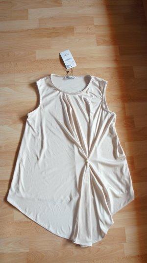 Zara langes Top - gold metallic - Gr. M - NEU!