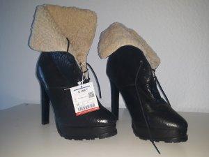 Zara Leder Boots High Heels