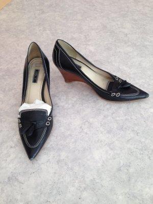 Zara Leder-Business-Schuh mit Keilabsatz Größe 37