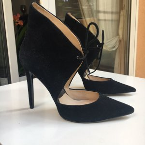 Zara Leder High Heels schwarz