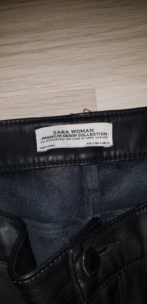 Zara Leather Trousers black leather