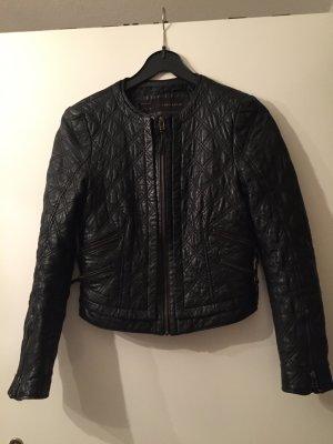 Zara Leder Jacke echt 36 s schwarz