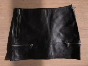 Zara Trafaluc Gonna in pelle nero Pelle