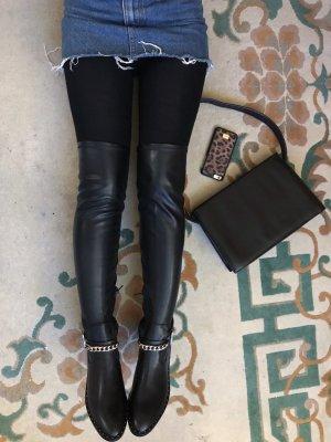 Zara Overknees black-gold-colored