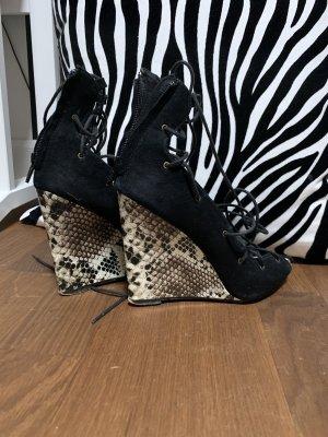 Zara Platform High-Heeled Sandal white-black