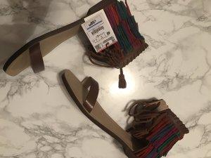 Zara Sandalo con cinturino multicolore Pelle