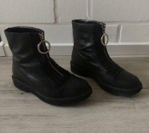 Zara Halfhoge laarzen zwart-zilver