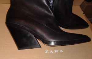 Zara Western Booties black leather