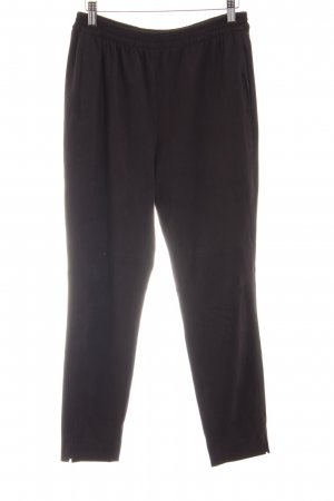 Zara Leren broek zwart zakelijke stijl