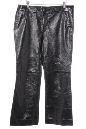 Zara Lederhose schwarz Elegant