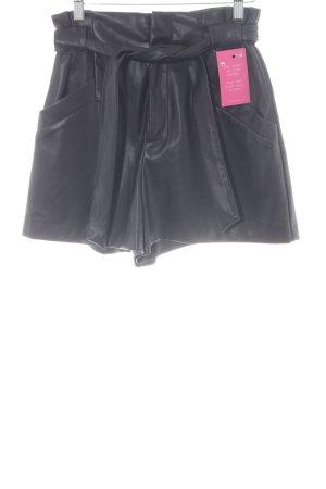 Zara Lederhose schwarz klassischer Stil