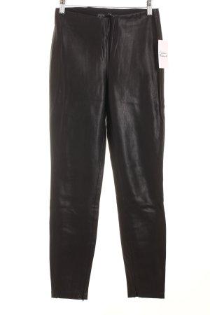 Zara Lederhose schwarz Leder-Optik