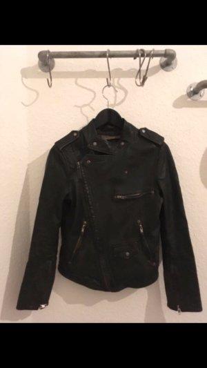 Zara Giacca da motociclista nero