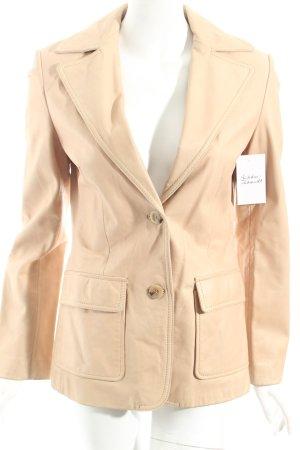 Zara Veste en cuir beige style rétro