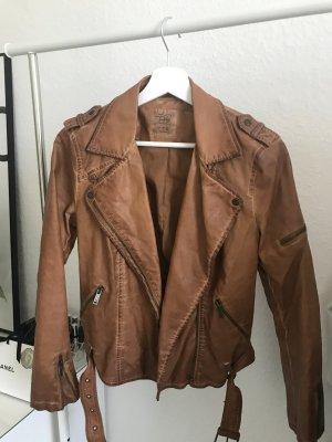 Zara Veste en cuir brun