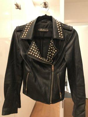 Zara Jeans noir cuir