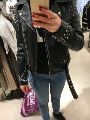 Zara Lederjacke mit Nieten