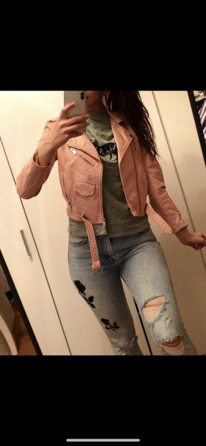 Zara Lederjacke rosa sehr beliebt