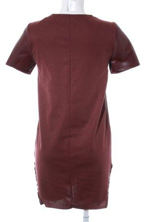 Zara Leather Dress bordeaux elegant