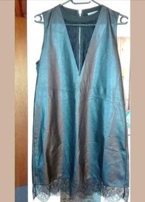 Zara Lederkleid event M mit mesh und reißverschluss