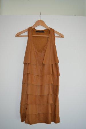 Zara Leather Dress multicolored leather
