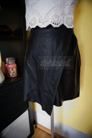 Zara Jupe en cuir noir faux cuir
