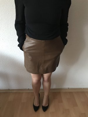 Zara Leather Skirt brown