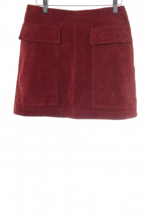 Zara Leather Skirt russet casual look