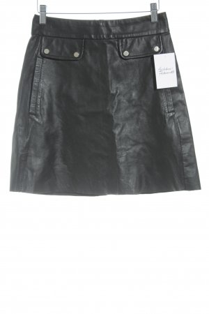 Zara Leather Skirt black casual look
