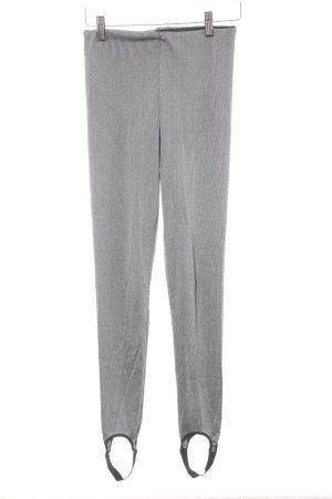 Zara Leggings grau-schwarz Streifenmuster Casual-Look