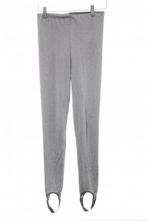 Zara Leggings gris-negro estampado a rayas look casual