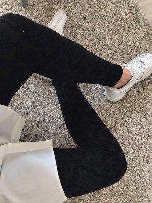 Zara Leggings mit Samtapplikation