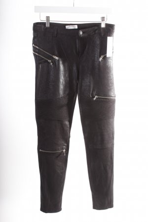 Zara Leggings schwarz Biker-Look