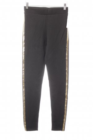 Zara Leggings black-gold-colored elegant
