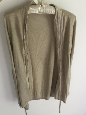 Zara Cardigan beige-chameau coton
