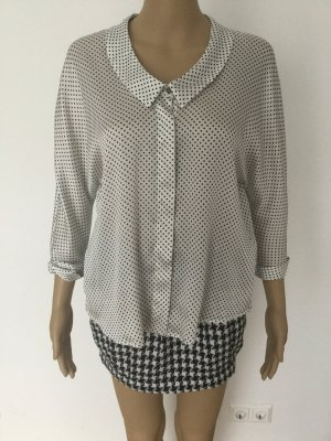 Zara Basic Splendor Blouse white-black polyester
