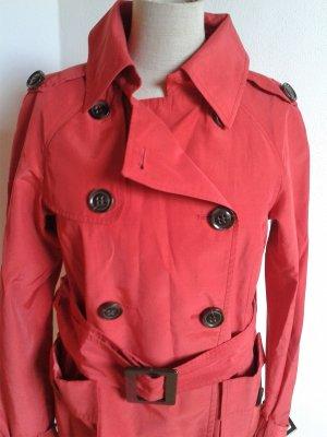 Zara leichte rote Jacke mit Glanz
