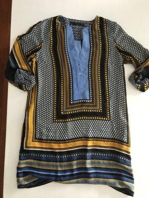Zara leichtes Hemd Bluse Tunika Kaftan Kleid gemustert Muster M 36-38