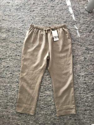 Zara Linen Pants beige