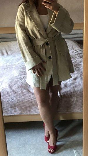 Zara Cappotto corto beige chiaro