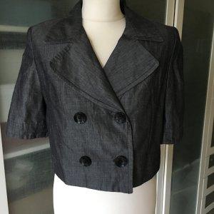 Zara Blazer corto gris oscuro