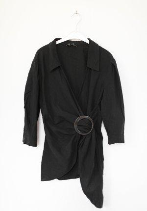 Zara Blouse en lin noir