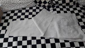 Zara Pantalón de lino gris claro-beige Lino