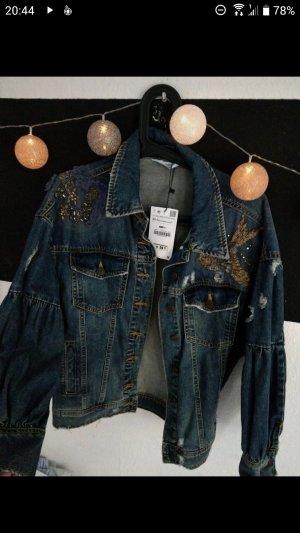 Zara Denim Jacket dark blue