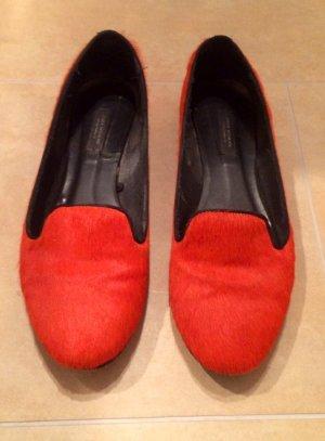 ZARA Loafers in Orange