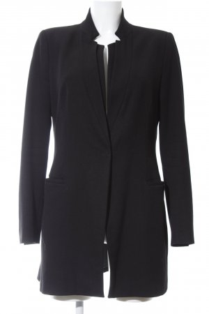 Zara Long-Blazer schwarz Business-Look