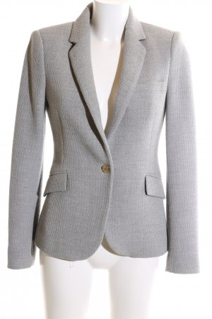 Zara Long-Blazer hellgrau Business-Look