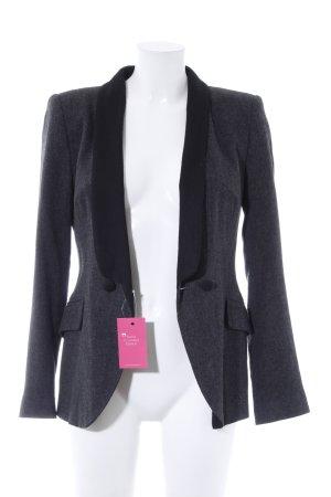 Zara Long-Blazer dunkelgrau-schwarz Casual-Look