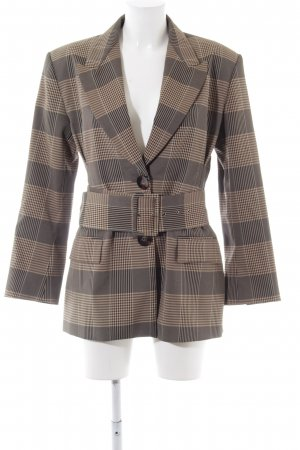 Zara Long-Blazer Hahnentrittmuster Business-Look