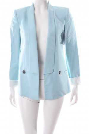 Zara Long-Blazer hellblau klassischer Stil